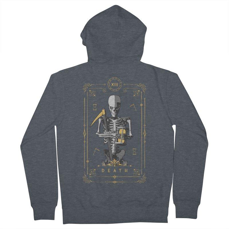Death XIII Tarot Card Men's French Terry Zip-Up Hoody by Grandio Design Artist Shop
