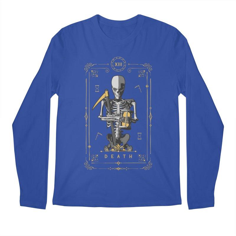 Death XIII Tarot Card Men's Regular Longsleeve T-Shirt by Grandio Design Artist Shop