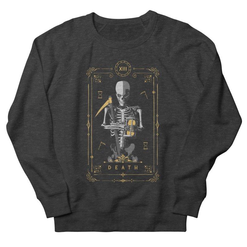 Death XIII Tarot Card Women's French Terry Sweatshirt by Grandio Design Artist Shop