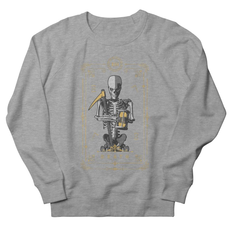 Death XIII Tarot Card Men's French Terry Sweatshirt by Grandio Design Artist Shop