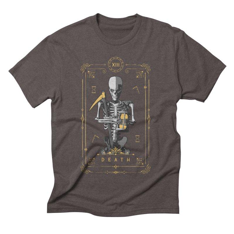 Death XIII Tarot Card Men's Triblend T-Shirt by Grandio Design Artist Shop