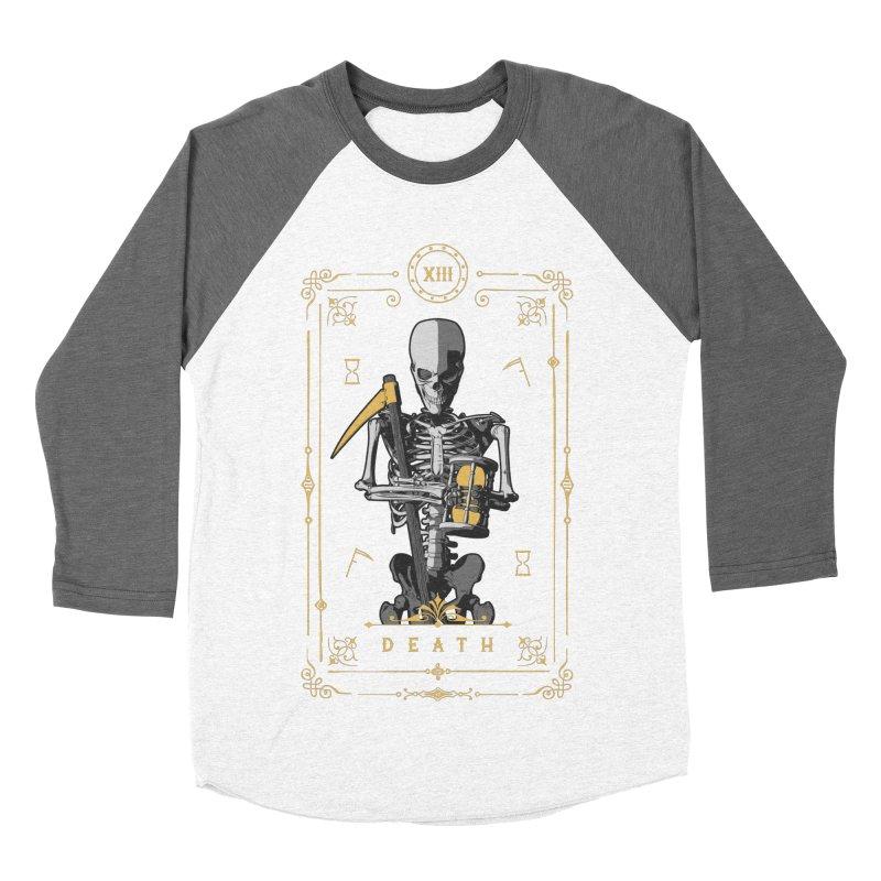 Death XIII Tarot Card Men's Baseball Triblend Longsleeve T-Shirt by Grandio Design Artist Shop
