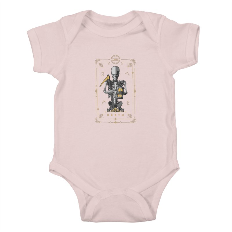 Death XIII Tarot Card Kids Baby Bodysuit by Grandio Design Artist Shop