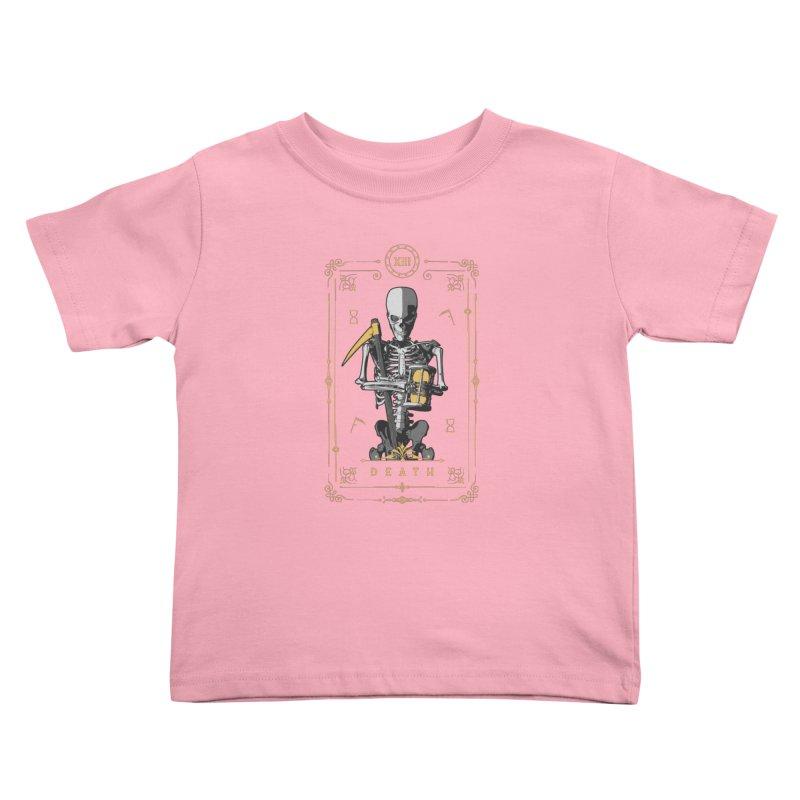 Death XIII Tarot Card Kids Toddler T-Shirt by Grandio Design Artist Shop