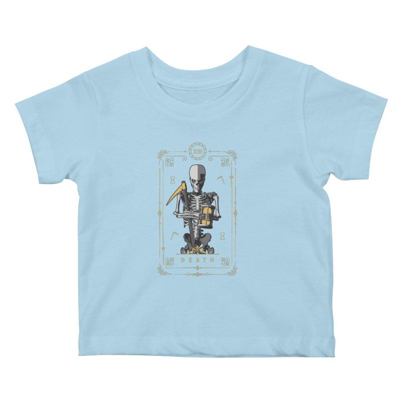 Death XIII Tarot Card Kids Baby T-Shirt by Grandio Design Artist Shop