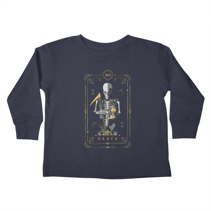 Death XIII Tarot Card Kids Toddler Longsleeve T-Shirt by Grandio Design Artist Shop