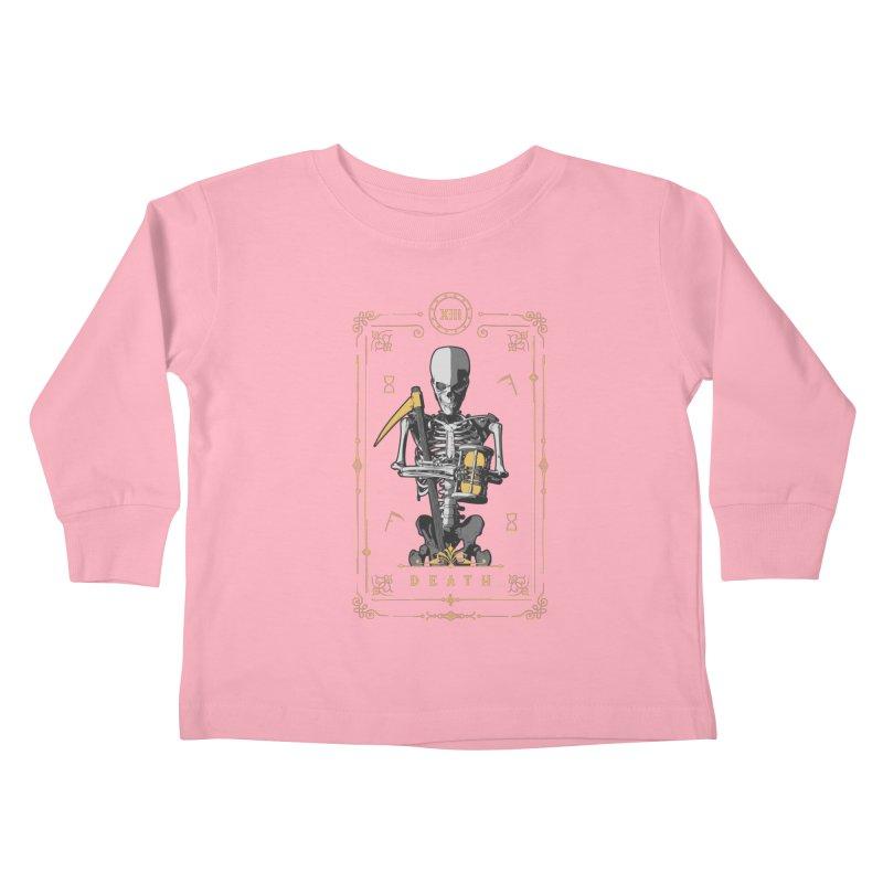 Death XIII Tarot Card Kids Toddler Longsleeve T-Shirt by Grandio Design Artist Shop