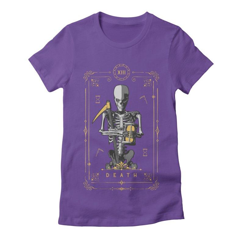 Death XIII Tarot Card Women's Fitted T-Shirt by Grandio Design Artist Shop