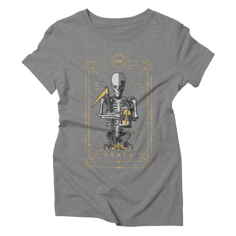 Death XIII Tarot Card Women's Triblend T-Shirt by Grandio Design Artist Shop