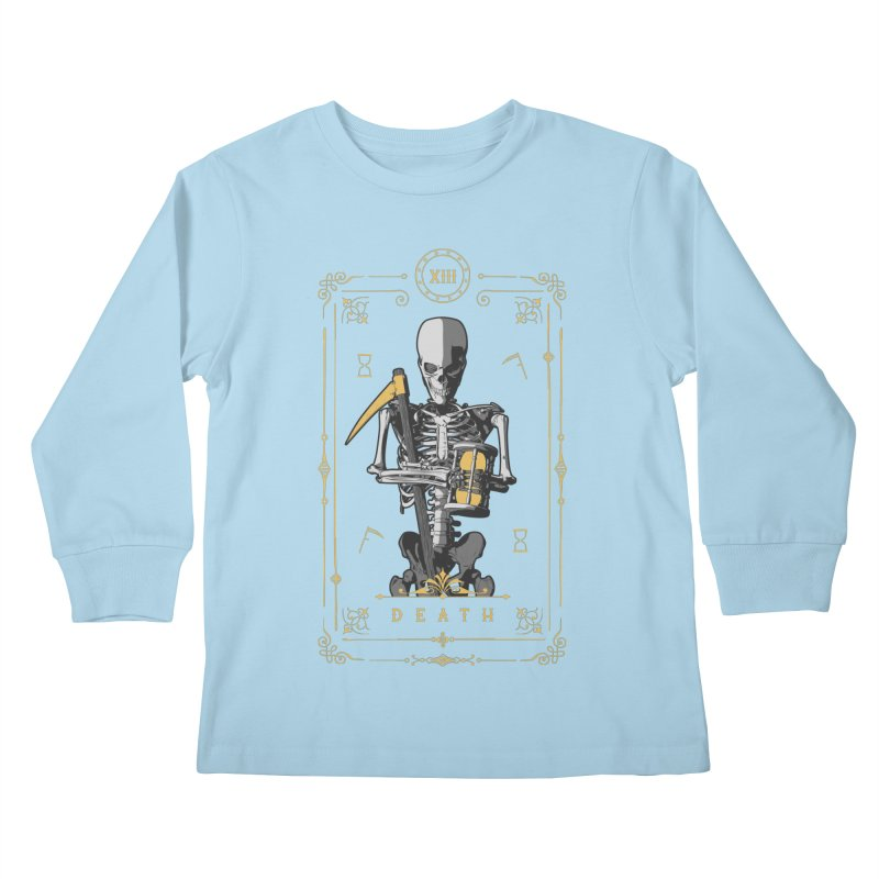 Death XIII Tarot Card Kids Longsleeve T-Shirt by Grandio Design Artist Shop