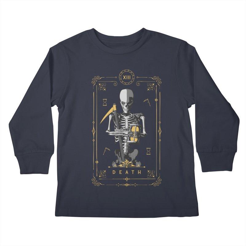 Death XIII Tarot Card Kids Longsleeve T-Shirt by Grandio Design Artist Shop