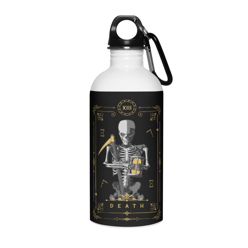 Death XIII Tarot Card Accessories Water Bottle by Grandio Design Artist Shop