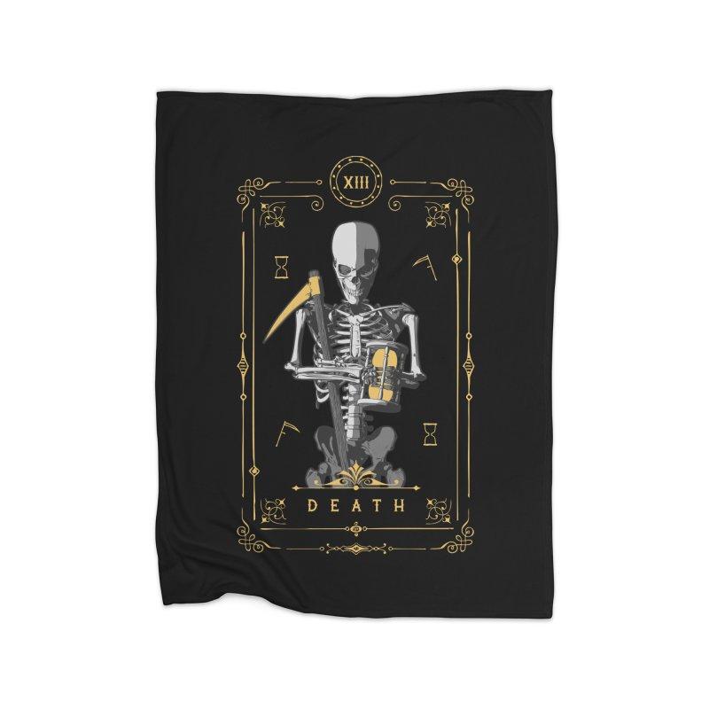 Death XIII Tarot Card Home Blanket by Grandio Design Artist Shop