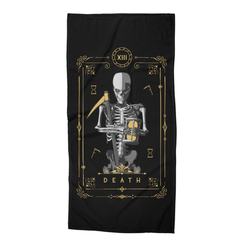Death XIII Tarot Card Accessories Beach Towel by Grandio Design Artist Shop