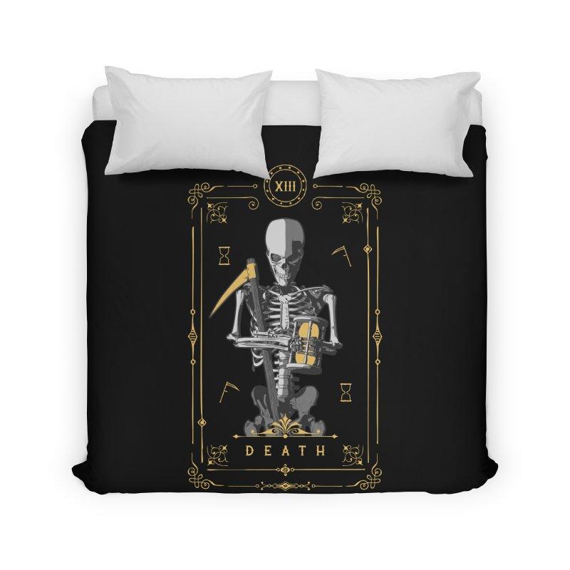 Death XIII Tarot Card Home Duvet by Grandio Design Artist Shop