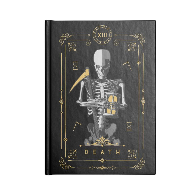 Death XIII Tarot Card Accessories Notebook by Grandio Design Artist Shop