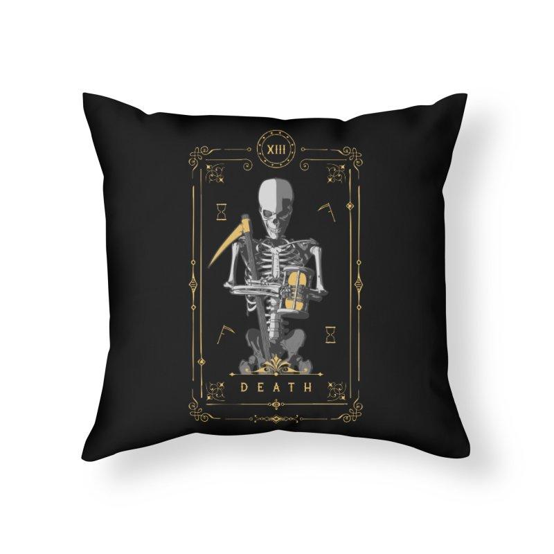 Death XIII Tarot Card Home Throw Pillow by Grandio Design Artist Shop