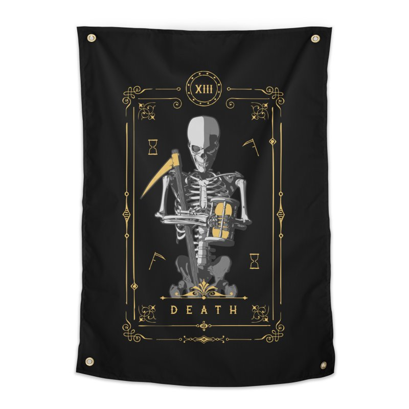 Death XIII Tarot Card Home Tapestry by Grandio Design Artist Shop