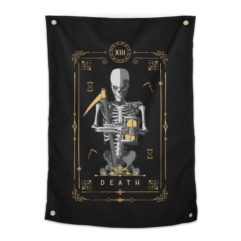 Death XIII Tarot Card Home Tapestry by Grandio Design Artist Shop