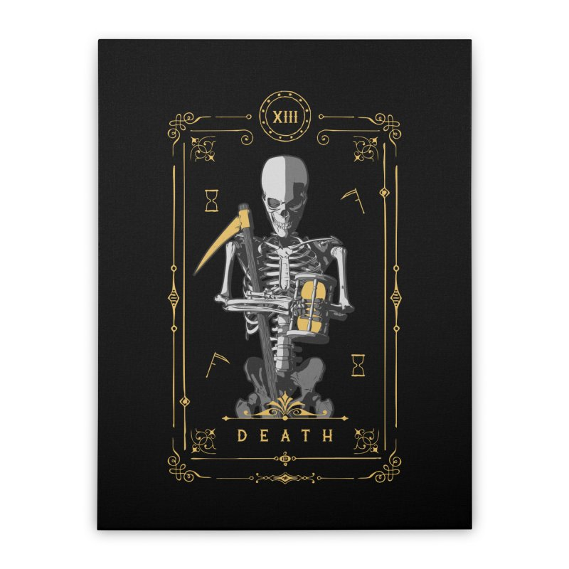 Death XIII Tarot Card Home Stretched Canvas by Grandio Design Artist Shop