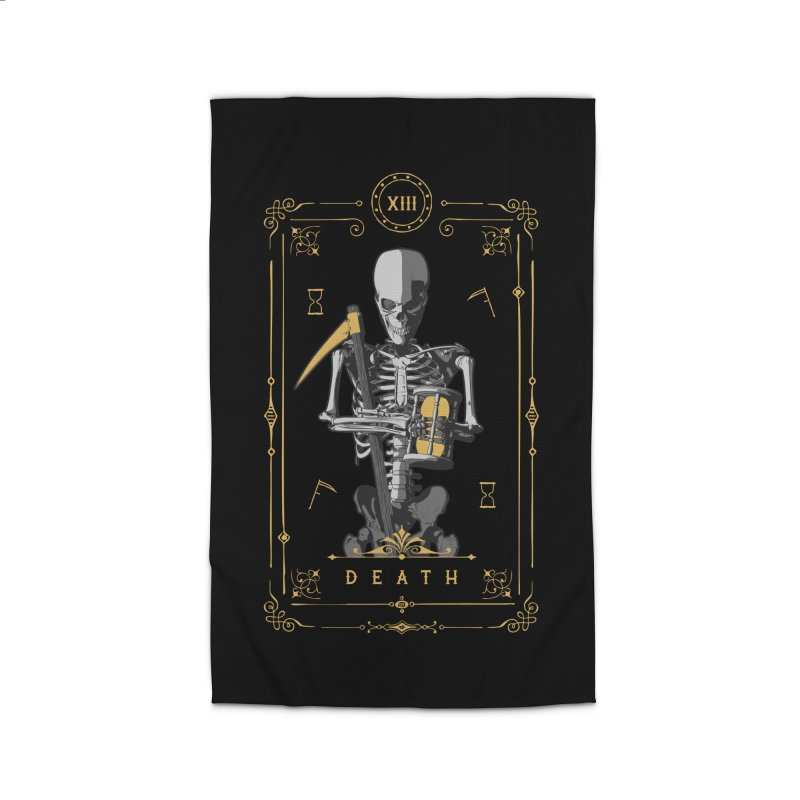 Death XIII Tarot Card Home Rug by Grandio Design Artist Shop