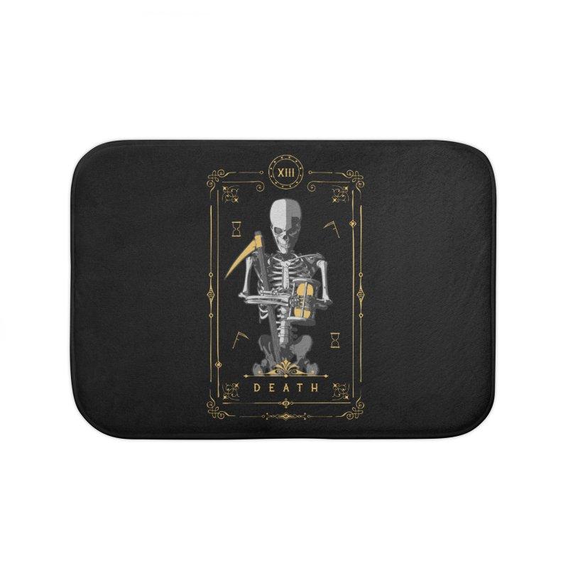 Death XIII Tarot Card Home Bath Mat by Grandio Design Artist Shop