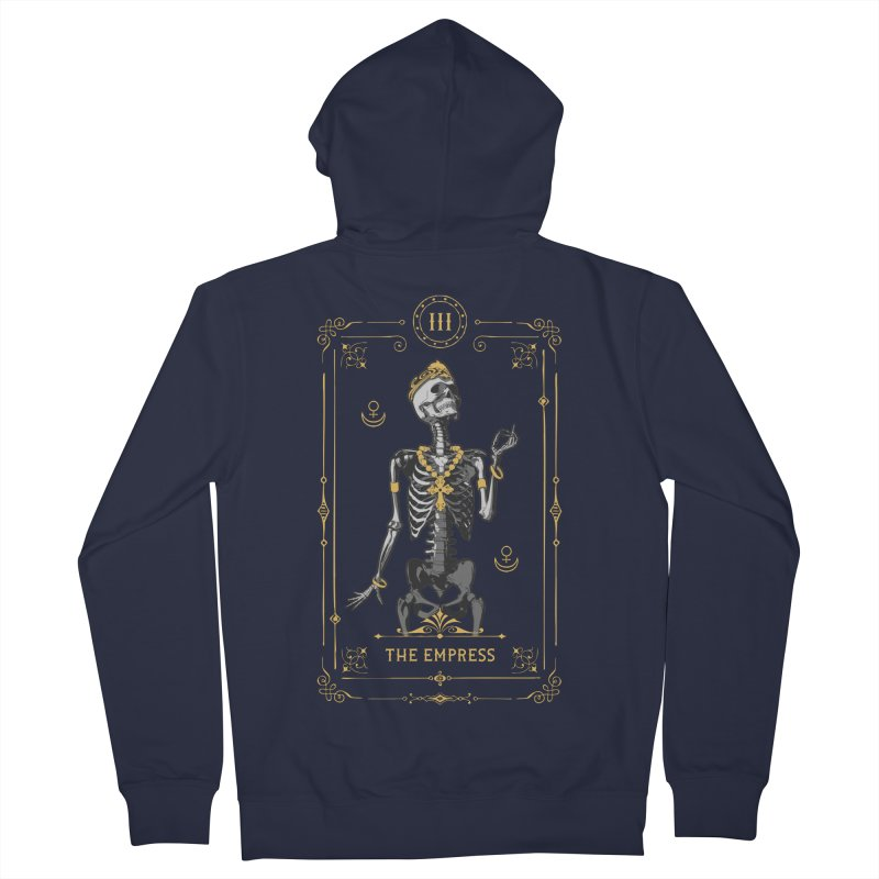 The Empress III Tarot Card Women's French Terry Zip-Up Hoody by Grandio Design Artist Shop