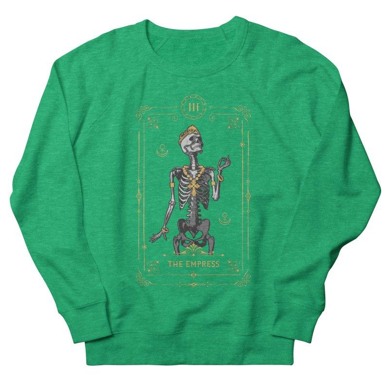 The Empress III Tarot Card Women's French Terry Sweatshirt by Grandio Design Artist Shop