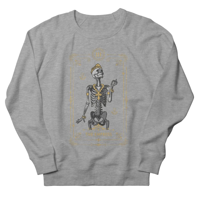 The Empress III Tarot Card Women's French Terry Sweatshirt by Grandio Design Artist Shop