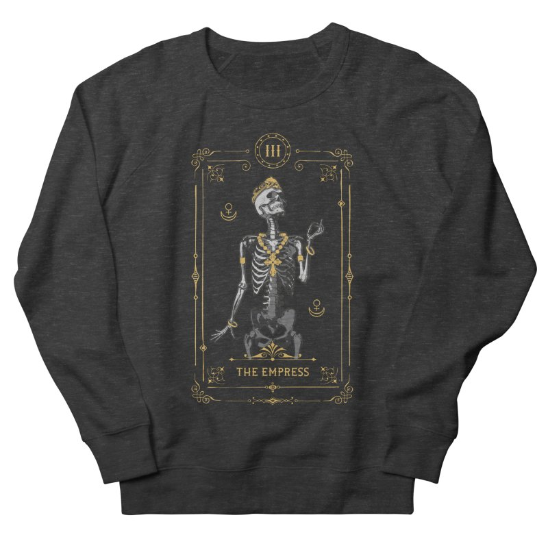 The Empress III Tarot Card Men's French Terry Sweatshirt by Grandio Design Artist Shop