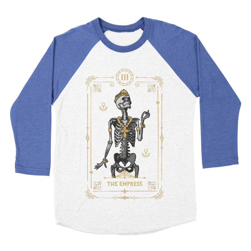 The Empress III Tarot Card Men's Baseball Triblend Longsleeve T-Shirt by Grandio Design Artist Shop