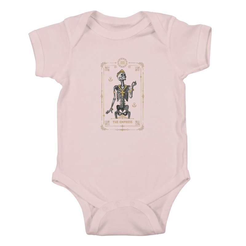 The Empress III Tarot Card Kids Baby Bodysuit by Grandio Design Artist Shop