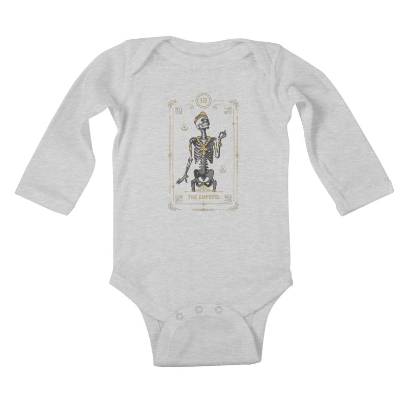 The Empress III Tarot Card Kids Baby Longsleeve Bodysuit by Grandio Design Artist Shop