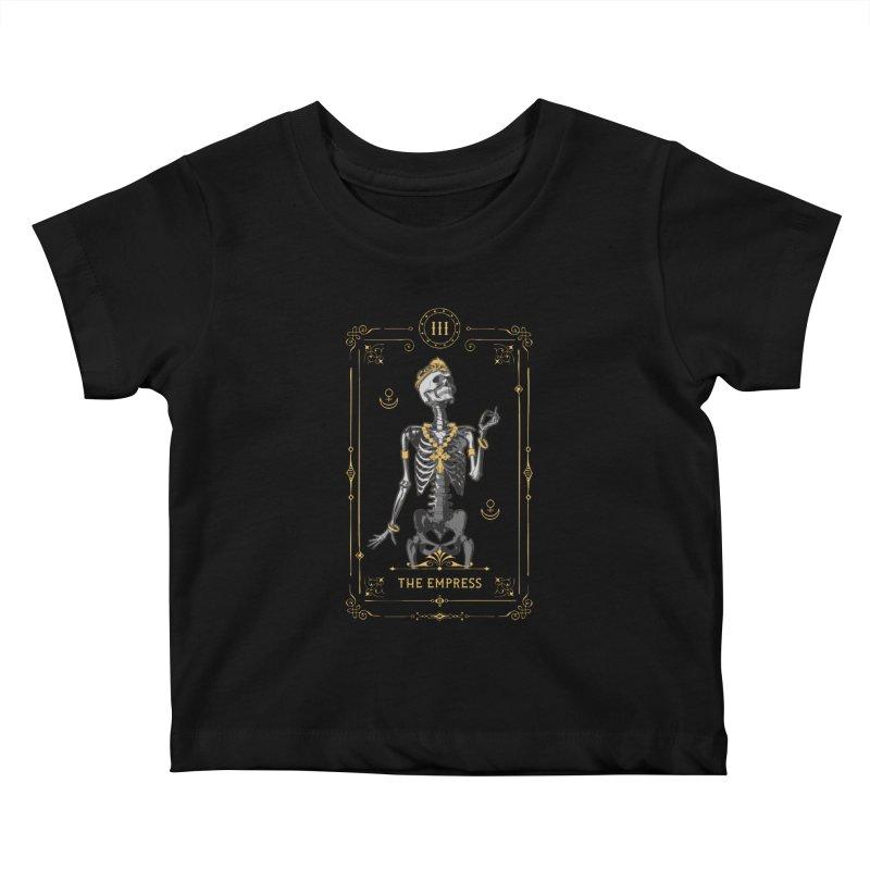 The Empress III Tarot Card Kids Baby T-Shirt by Grandio Design Artist Shop