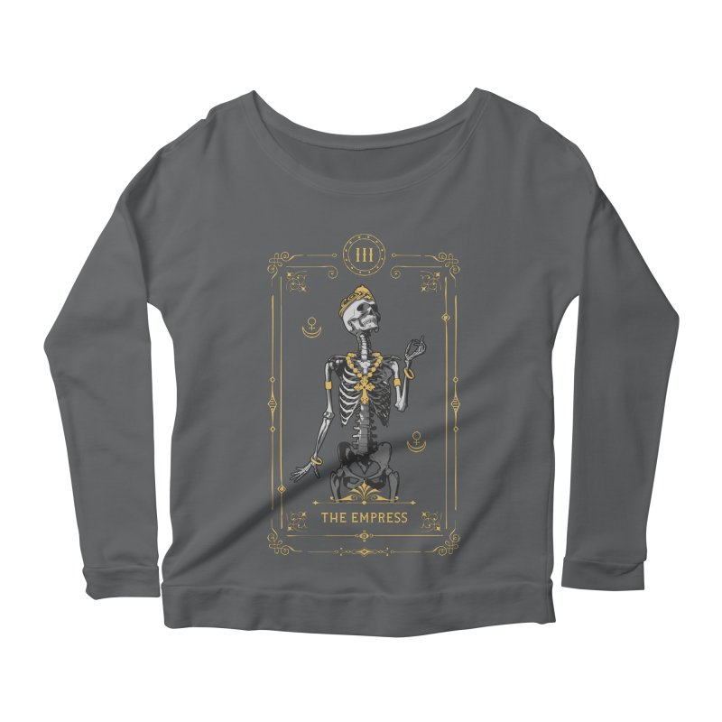 The Empress III Tarot Card Women's Scoop Neck Longsleeve T-Shirt by Grandio Design Artist Shop