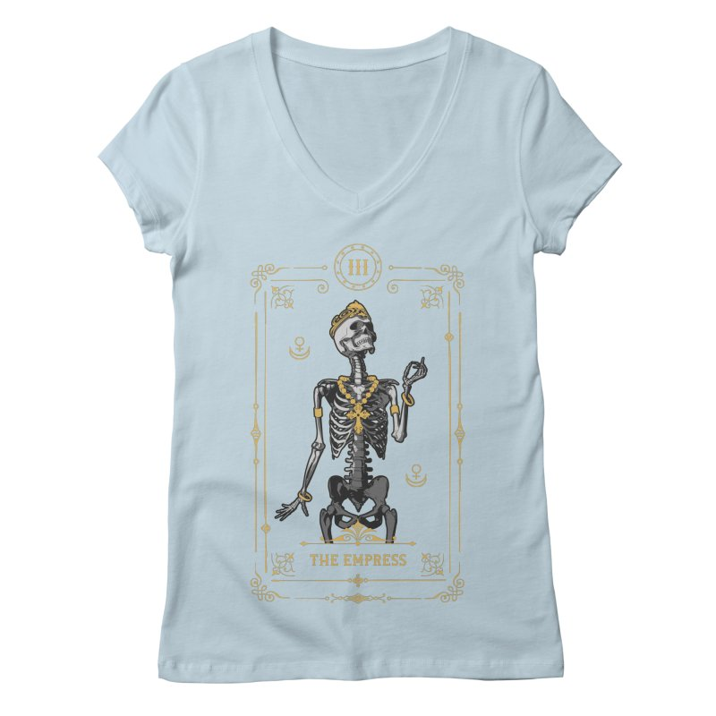 The Empress III Tarot Card Women's Regular V-Neck by Grandio Design Artist Shop