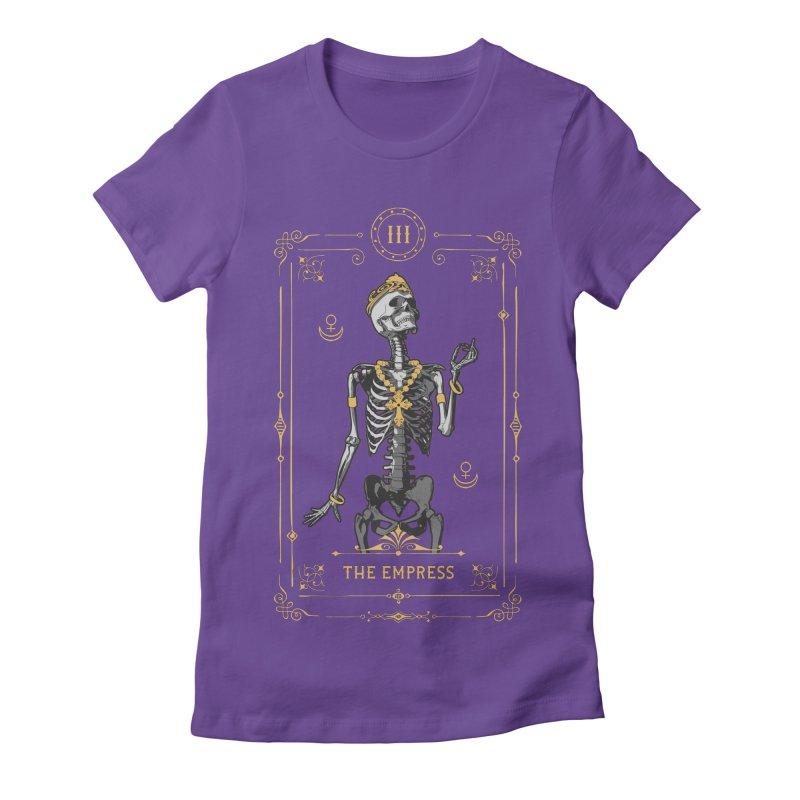 The Empress III Tarot Card Women's Fitted T-Shirt by Grandio Design Artist Shop