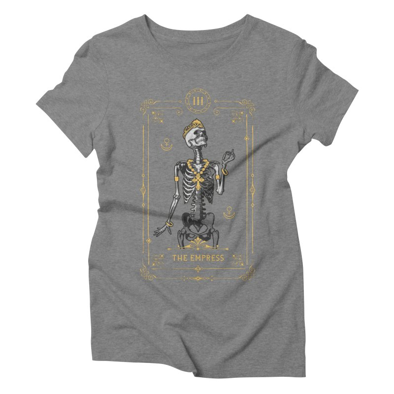 The Empress III Tarot Card Women's Triblend T-Shirt by Grandio Design Artist Shop