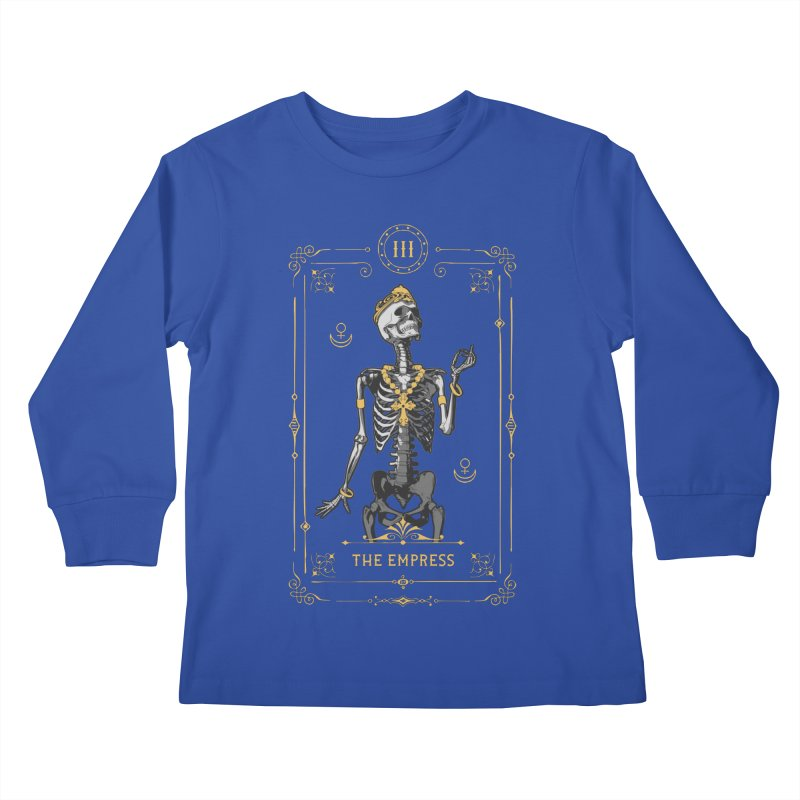 The Empress III Tarot Card Kids Longsleeve T-Shirt by Grandio Design Artist Shop