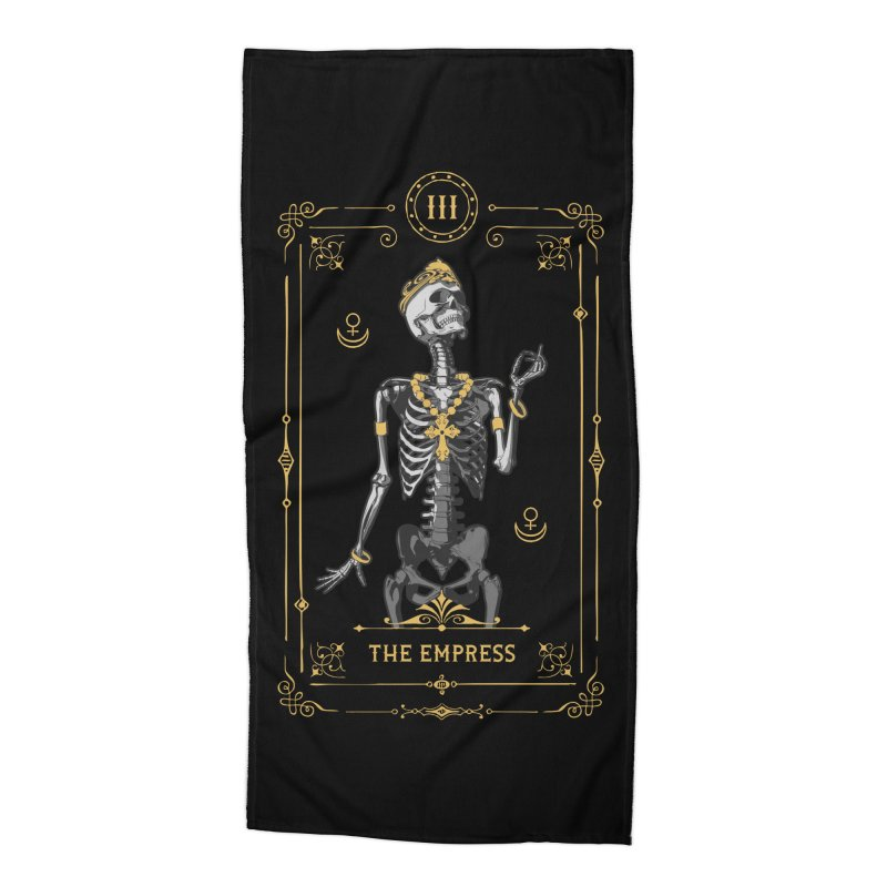 The Empress III Tarot Card Accessories Beach Towel by Grandio Design Artist Shop