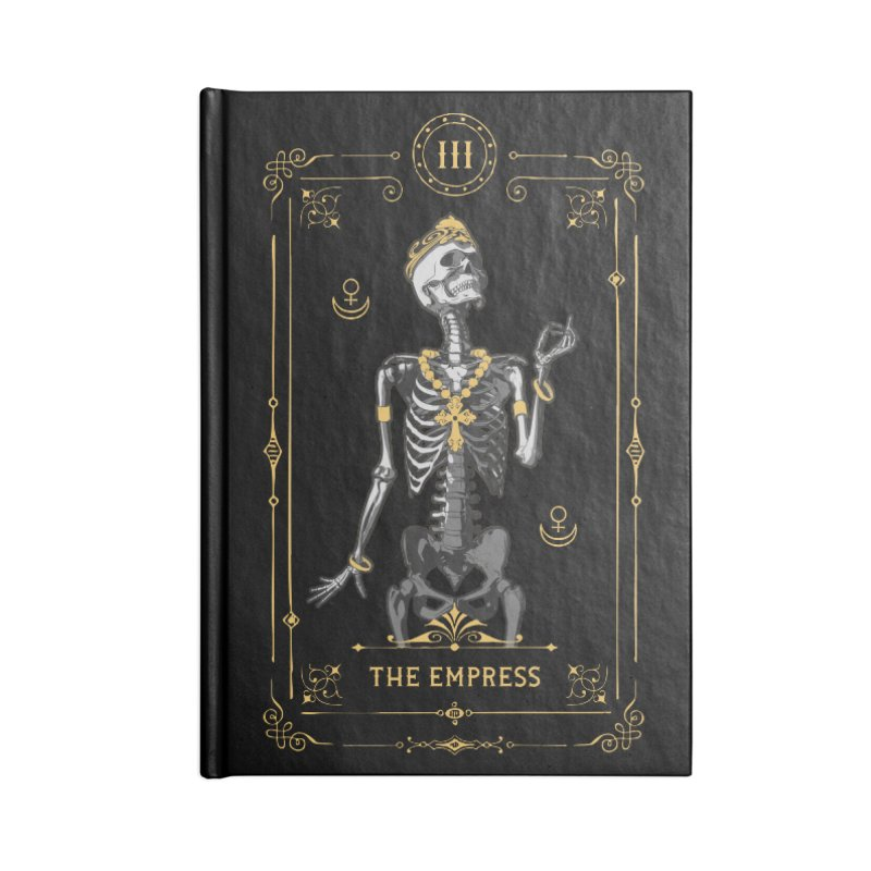 The Empress III Tarot Card Accessories Notebook by Grandio Design Artist Shop