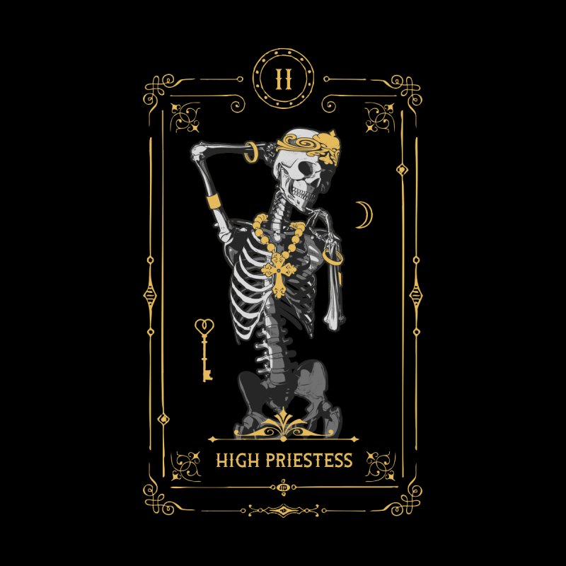 High Priestess II Tarot Card Women's Longsleeve T-Shirt by Grandio Design Artist Shop