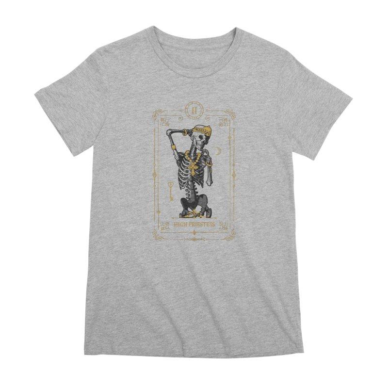 High Priestess II Tarot Card Women's Premium T-Shirt by Grandio Design Artist Shop