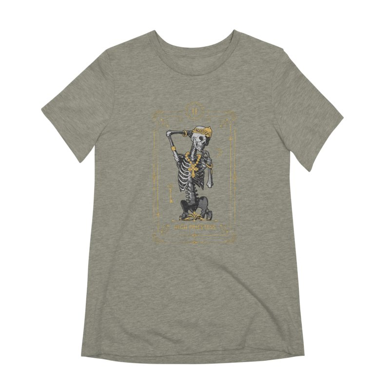 High Priestess II Tarot Card Women's Extra Soft T-Shirt by Grandio Design Artist Shop