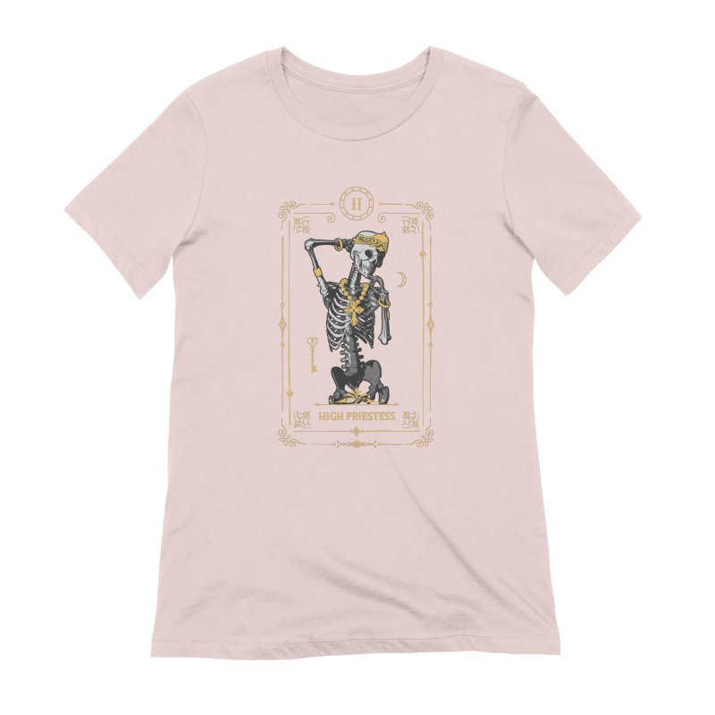 High Priestess II Tarot Card Women's Extra Soft T-Shirt by Grandio Design Artist Shop