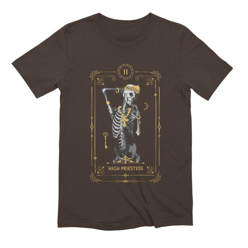 High Priestess II Tarot Card Men's Extra Soft T-Shirt by Grandio Design Artist Shop