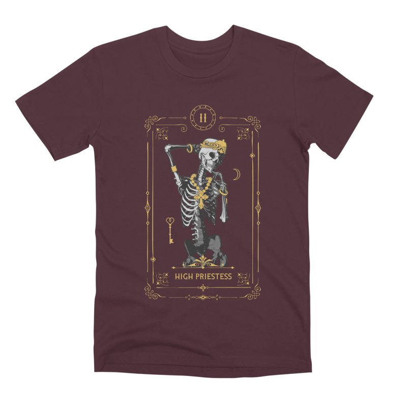 High Priestess II Tarot Card Men's Premium T-Shirt by Grandio Design Artist Shop