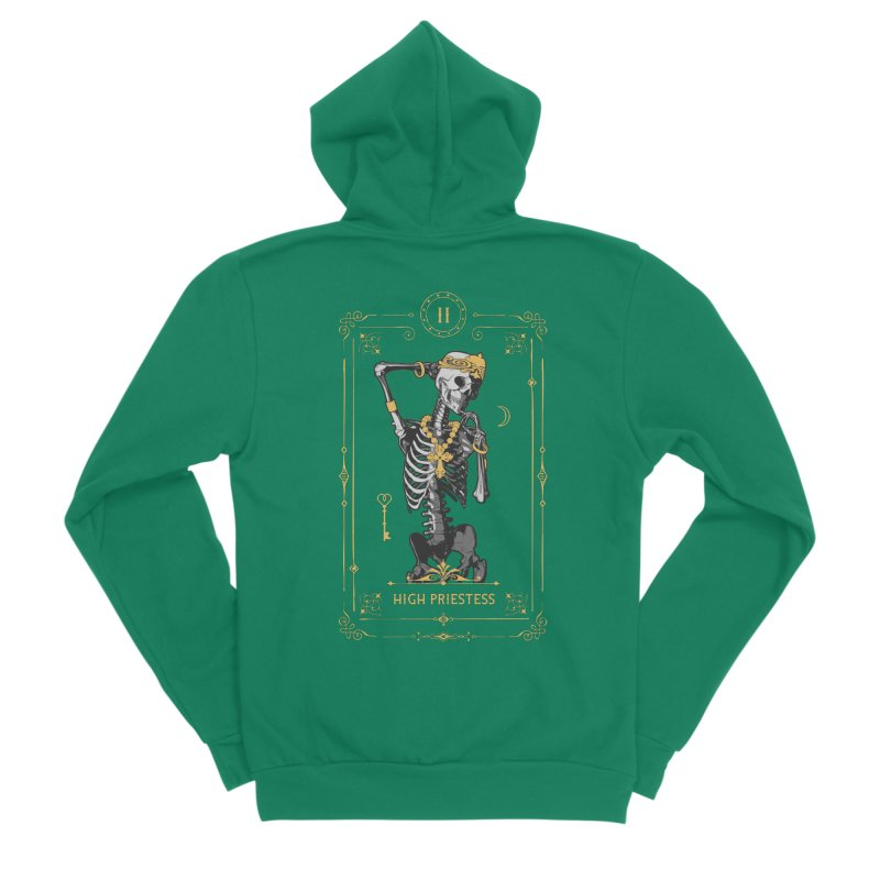 High Priestess II Tarot Card Men's Sponge Fleece Zip-Up Hoody by Grandio Design Artist Shop