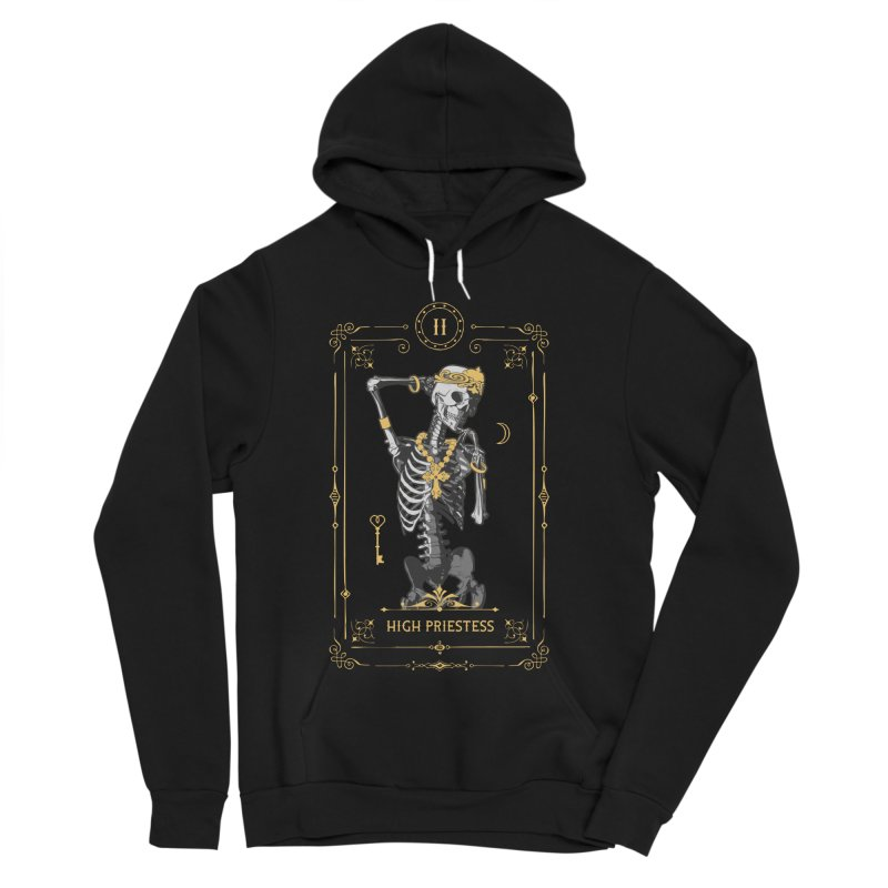 High Priestess II Tarot Card Women's Sponge Fleece Pullover Hoody by Grandio Design Artist Shop