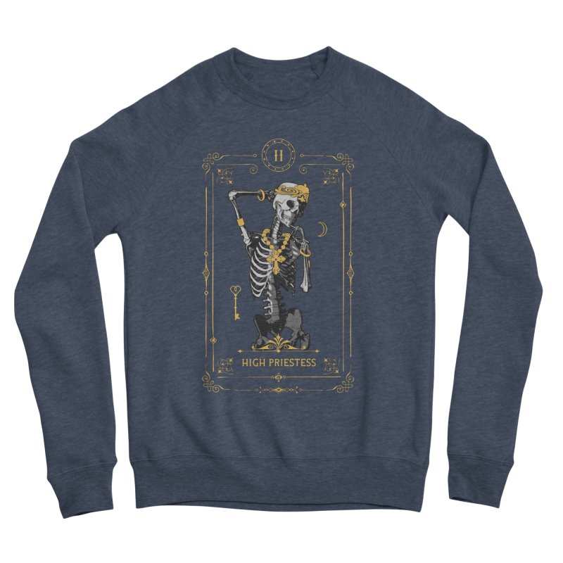 High Priestess II Tarot Card Men's Sponge Fleece Sweatshirt by Grandio Design Artist Shop